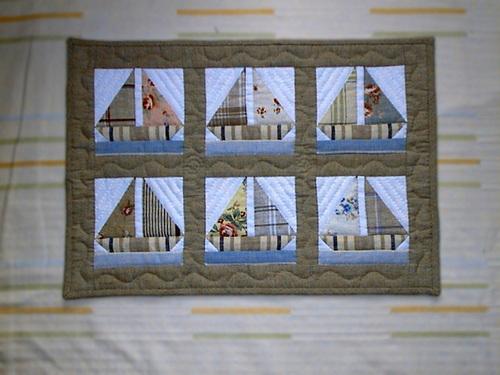 ヨットのタペストリー