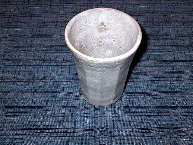 フリーカップ:土:唐津梅崎 釉薬:白萩釉